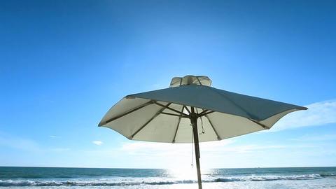 Sun umbrella Footage