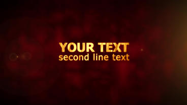 Gold Text Animation After Effects Template