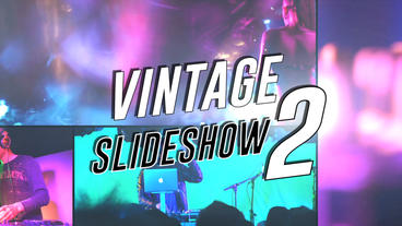 Vintage Slideshow II - Apple Motion and Final Cut Pro X Template Plantilla de Apple Motion