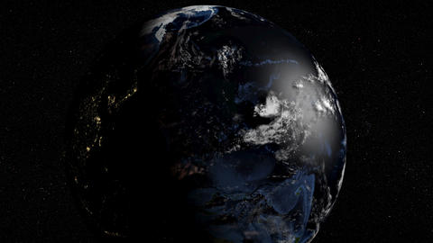 Earth Spinning Quickly Animation