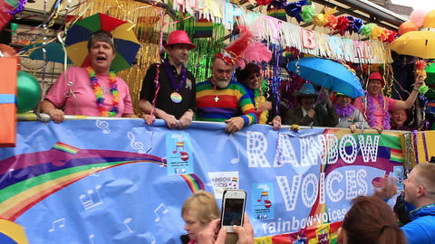 Birmingham Gay Pride - Rainbow Voices on the truck Footage