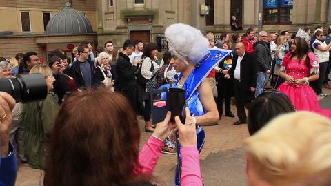 Birmingham Gay Pride - transgender and transsexual costume parade Footage