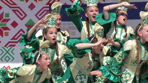 Folk Tatar dance Footage