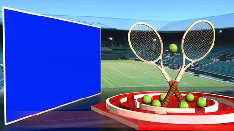 Tennis News Update Television Broadcast Sport Program Red Line Footage
