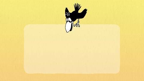Bird Flies and Sits on Poster 2.1 Animation