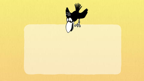 Bird Flies and Sits on Poster 2 Animation