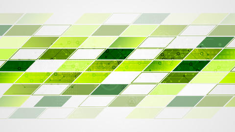 Abstract bright tech geometric video animation. Green and blue colors Animation