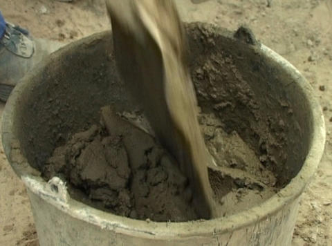 cement in bucket Live Action