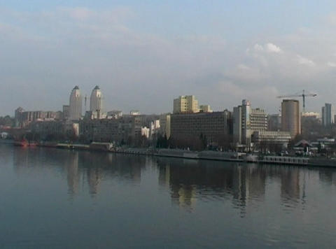 City On The River stock footage