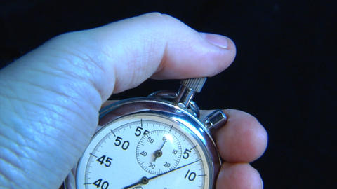 stop-watch in hand Footage