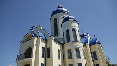 Christian chirch, Ukraine. Exterior Footage