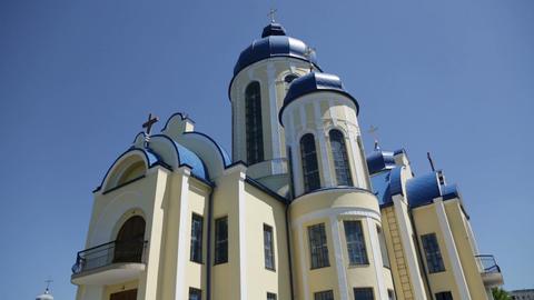 Christian chirch, Ukraine. Exterior Footage