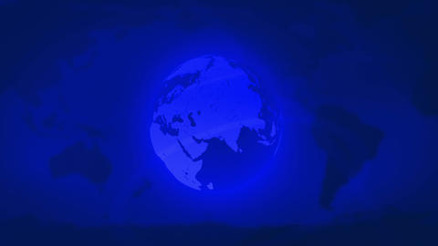 Spinning Earth background, loop Animation