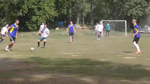 The men play mini football Footage