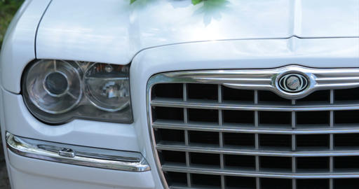 Chrysler. Lights.front View, Close Up stock footage