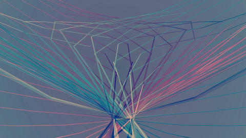 bluish spider lines Animation