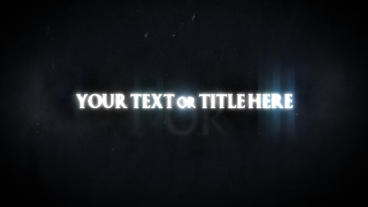 title animaion After Effects Template