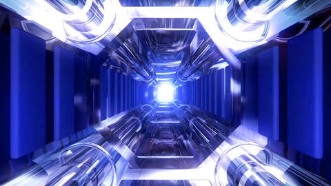 Space Tunnel stock footage