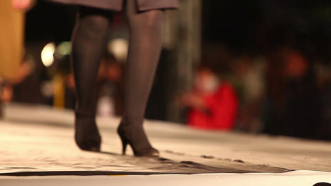 Shoes on the podium Footage