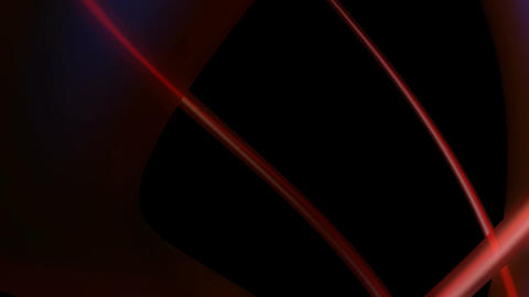 red glossy curve Animation