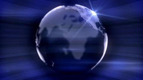 blue dot earth Animation