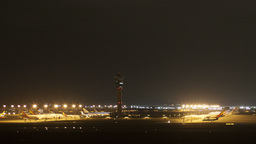 Time Lapse Of Incheon Airport, South Korea stock footage