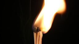 Match fire in slowmotion Footage