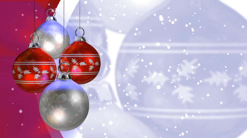 christmas ball background Animation