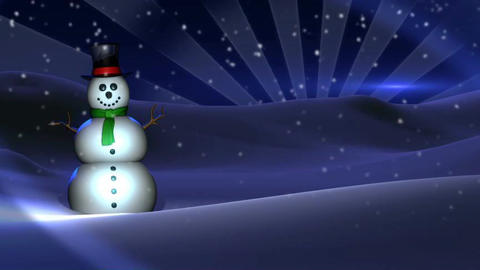 Snowman Background stock footage