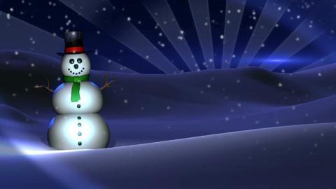 snowman background Animación