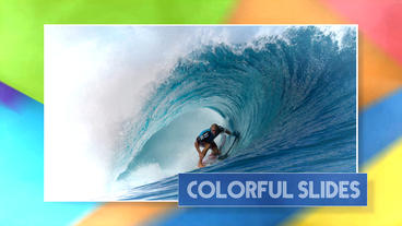 Colorful Slides - Apple Motion and Final Cut Pro X Template Apple Motionテンプレート