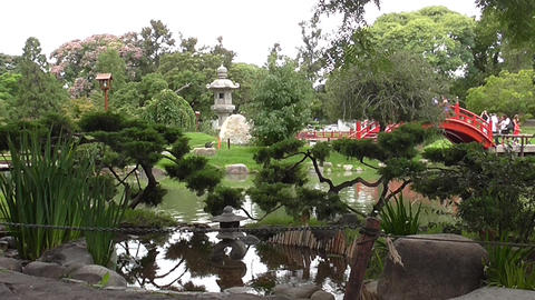 Japanese Garden Of Buenos Aires stock footage