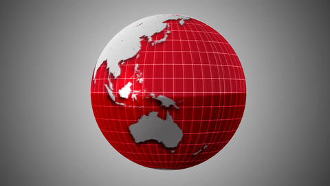 3 Colored Rotating globe Stock Video Footage