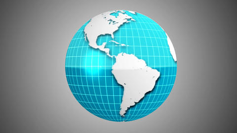 3 Colored Rotating Globe stock footage