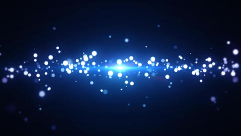 Bokeh Particle Animation Stock Video Footage