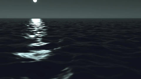 Ocean at night Stock Video Footage