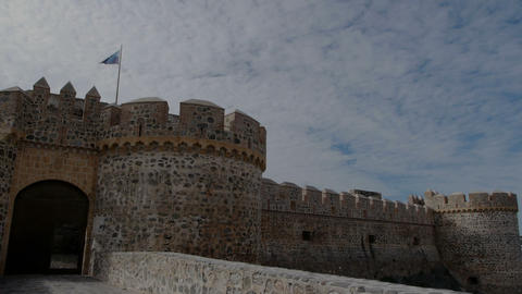 timelapse of the castle of San Miguel Footage