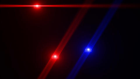 Red and blue rotating light rays Animation
