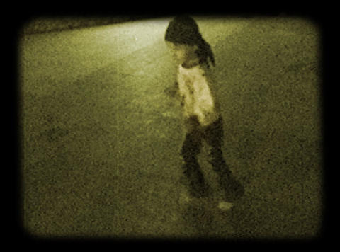 child at the evening boulevard Footage