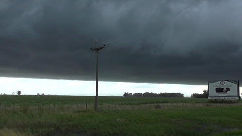 Big Storm in the Farm Stock Video Footage