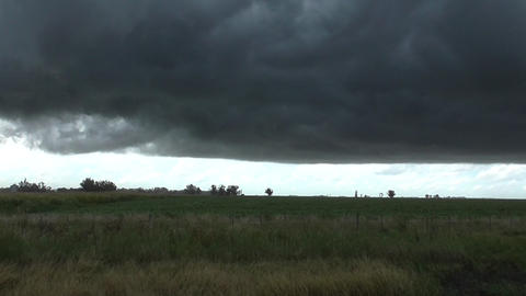 Black Sky And Storm stock footage