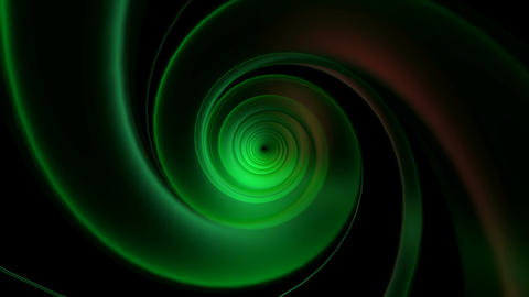 glowing greenish tunnel Animation