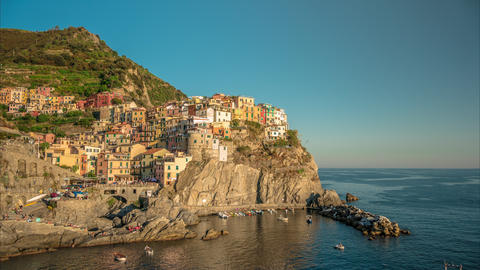 Time lapse of Manarola, Cinque Terre. Long shot Footage