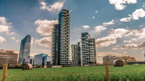 Solaria Tower Is The Tallest Residential Building In Italy stock footage