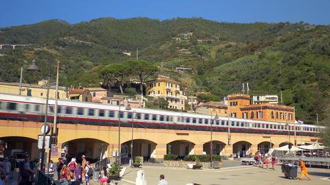 Modern high speed passenger train speeds up Footage