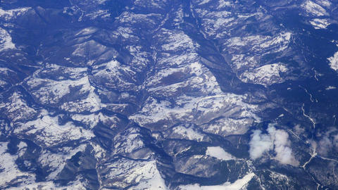 Mountain ranges from the aircraft Footage