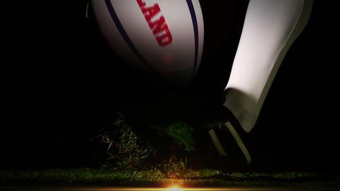 Player kicking england rugby ball Animation