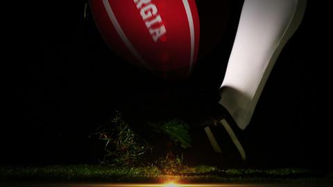 Player kicking georgia rugby ball Animation