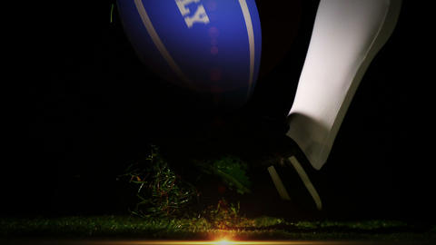 Player kicking italy rugby ball Animation