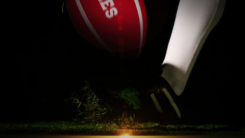 Player kicking wales rugby ball Animation